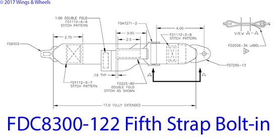 FDC8300-122 Fifth Strap Bolt-in