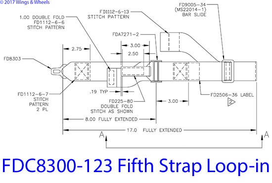 FDC8300-123 Fifth Strap Loop-in