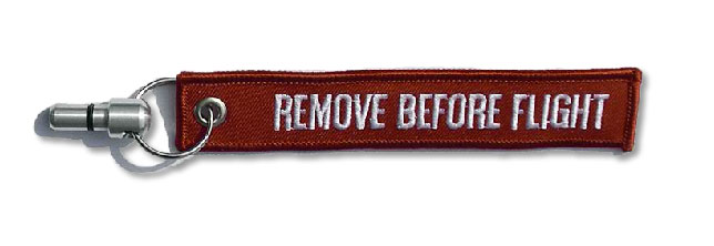 Remove Before Flight 6mm