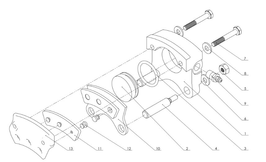 TOST Set Linings for 30-9 Brake Assembly